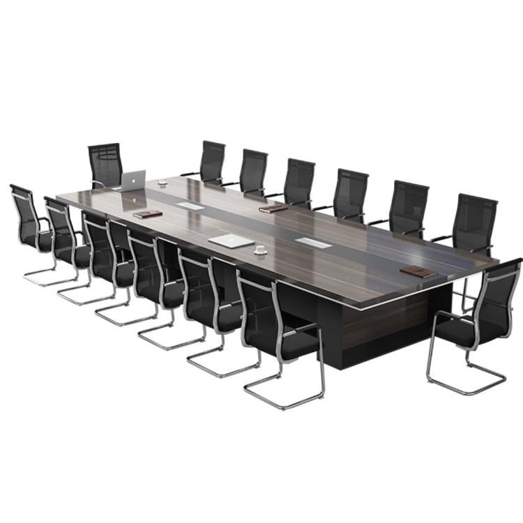 办公家具长方形大型会议桌长桌简约现代会议室洽谈桌椅组合办公桌公司南京