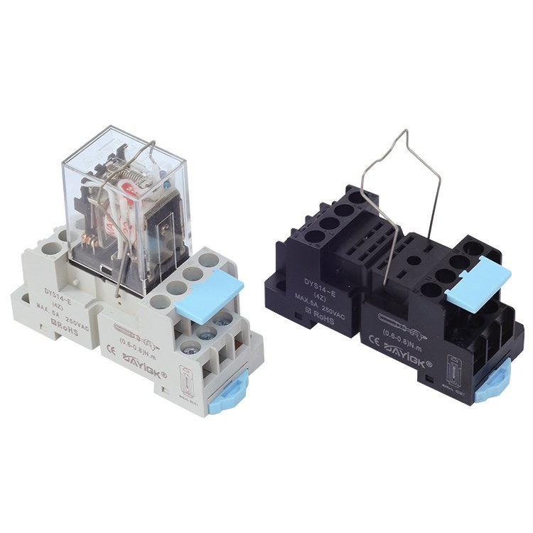 DYS14-E DYF14A 原装小型继电器底座 继电器插座MY4底座 安全质量可靠-大一工控