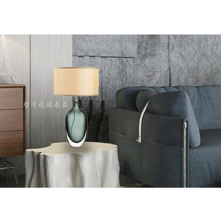 淄博琉璃工厂 批发现代美式简约 质优价廉 美式琉璃台灯