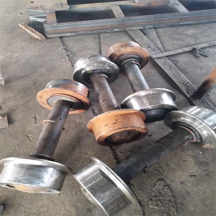 矿联矿车轮对 300实心轮对 翻斗式矿车轮对