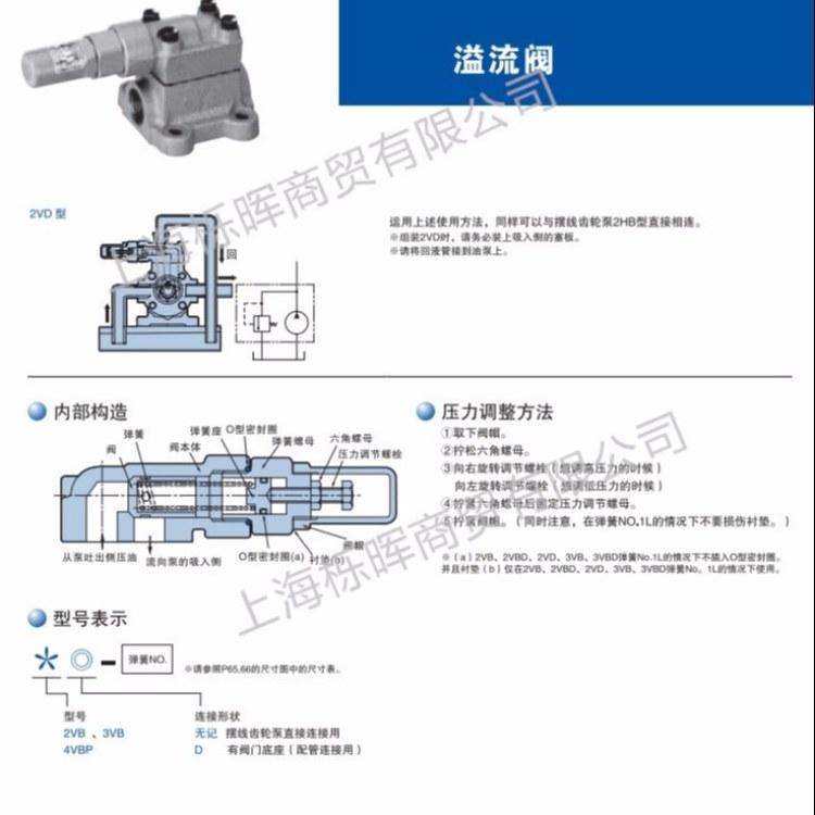 NOP油泵配件溢流阀TOP-2VBD 日本NOP油泵原装进口品质保障特价直销欢迎致电