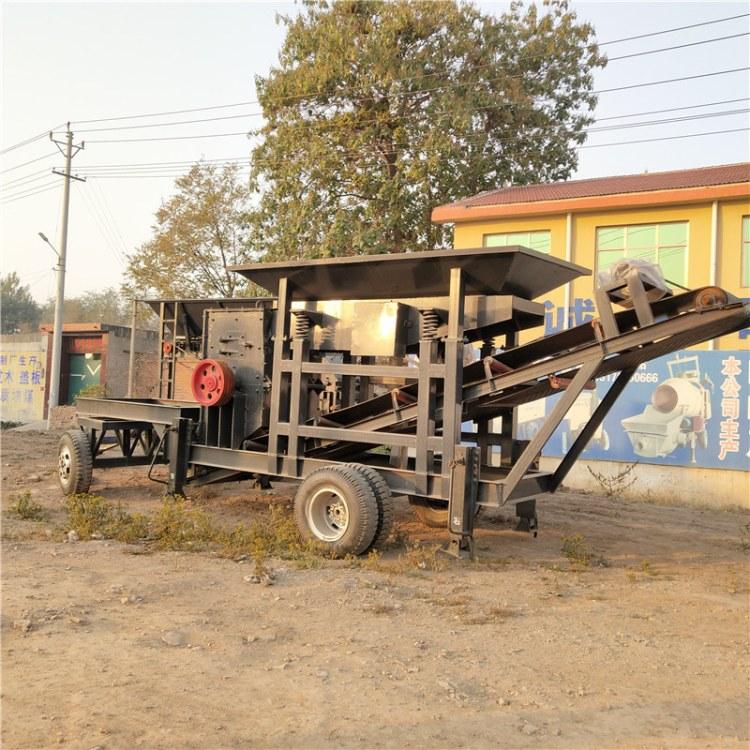 河北腾建大中小型移动破碎机 新型锤式打碎机移动制沙机鹅卵石锤式碎石机