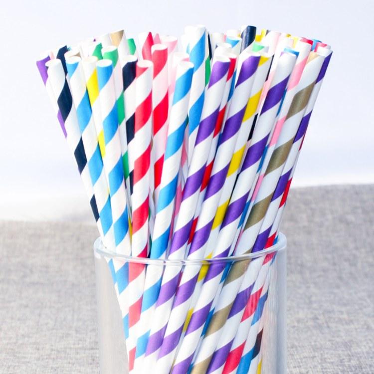 纸吸管一次性餐具彩色环保可降解纸质吸管酒店餐厅食品级定制