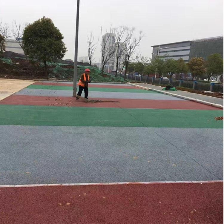 南京高博专业做 透水混凝土 透水地坪施工