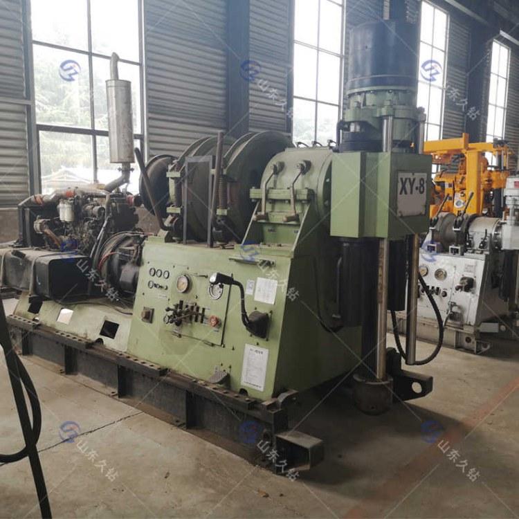 供应久钻大型地质岩芯工程钻机XY-8两千米勘探取样钻机 液压打井设备