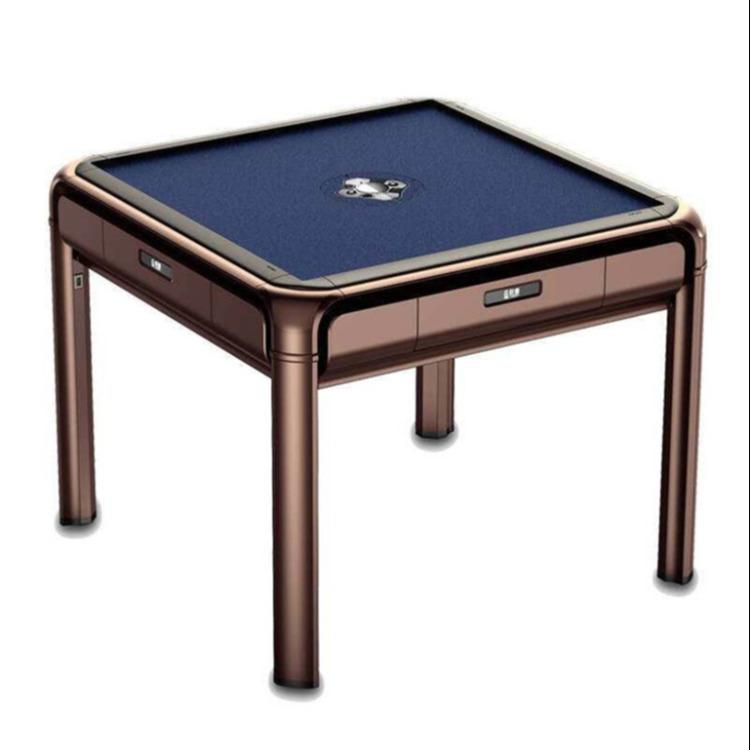 四川自贡牌具销售麻将机智能芯片两用中式风格棋牌桌四口麻将桌加盟电话