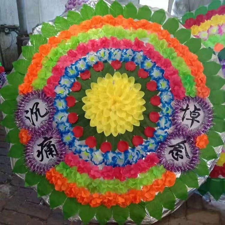 广海 发货 1.8米手提袋仿真布花圈 大花圈