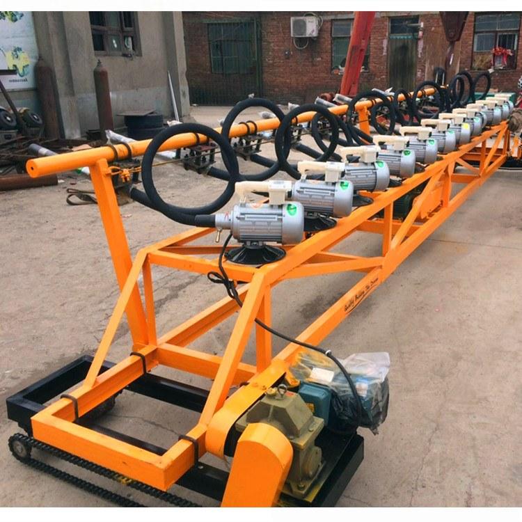 矿联机械排式振捣机 带振动棒的摊铺机 排阵摊铺一体机