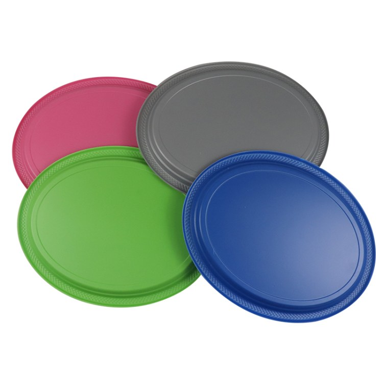 派对用一次性餐具 一次性塑料餐盘 6寸PS圆形餐盘
