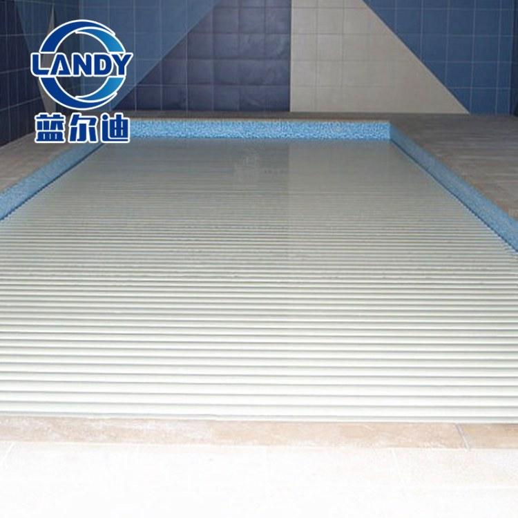 游泳池自动伸缩遮阳板 广州蓝尔迪电动泳池盖 节能保温防尘 带遥控开关 高端池专用