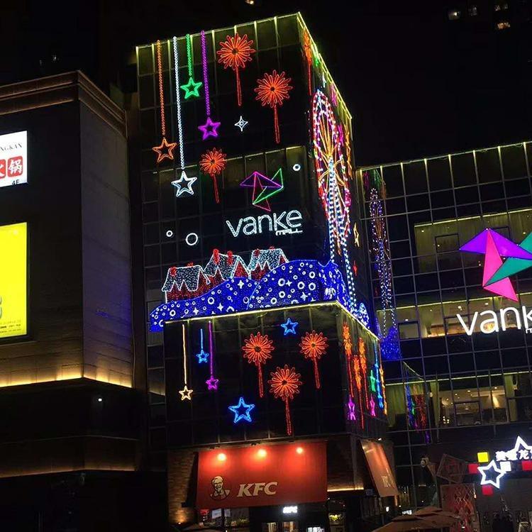 自贡江山月厂家定制大型灯饰画节庆彩灯花灯商场超市灯饰画 节庆灯光节