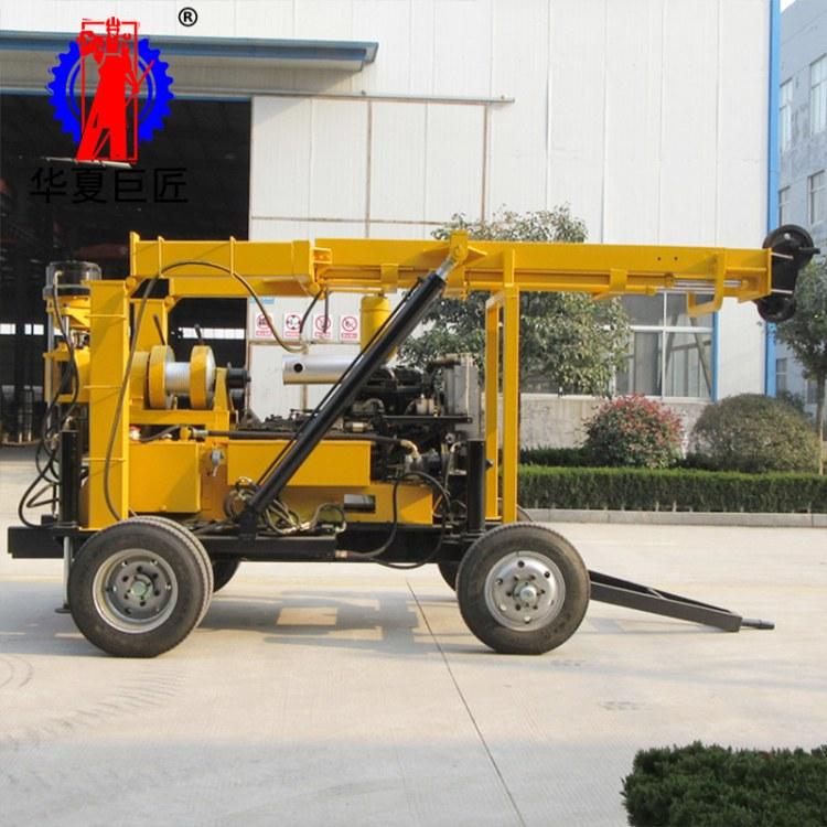 华夏巨匠XYX-3轮式液压勘探钻机 大型钻探设备 电启动省时省力
