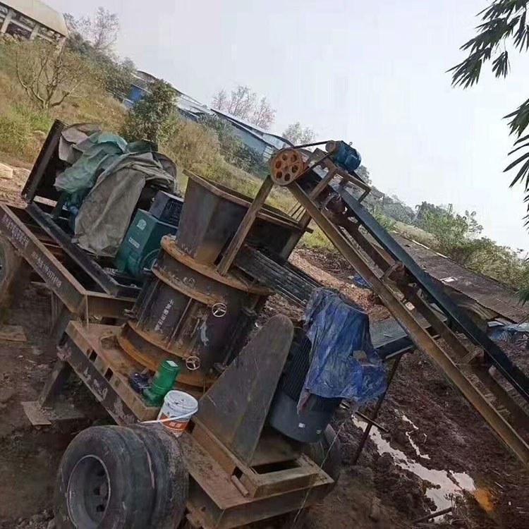 建筑垃圾小型粉碎机 可移动破碎机 建筑垃圾移动破碎