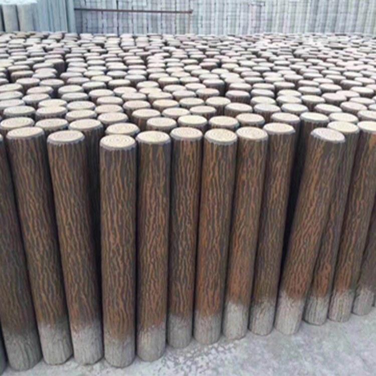 射阳县扬扬建筑专业生产仿木桩仿树桩 仿木桩批量加工