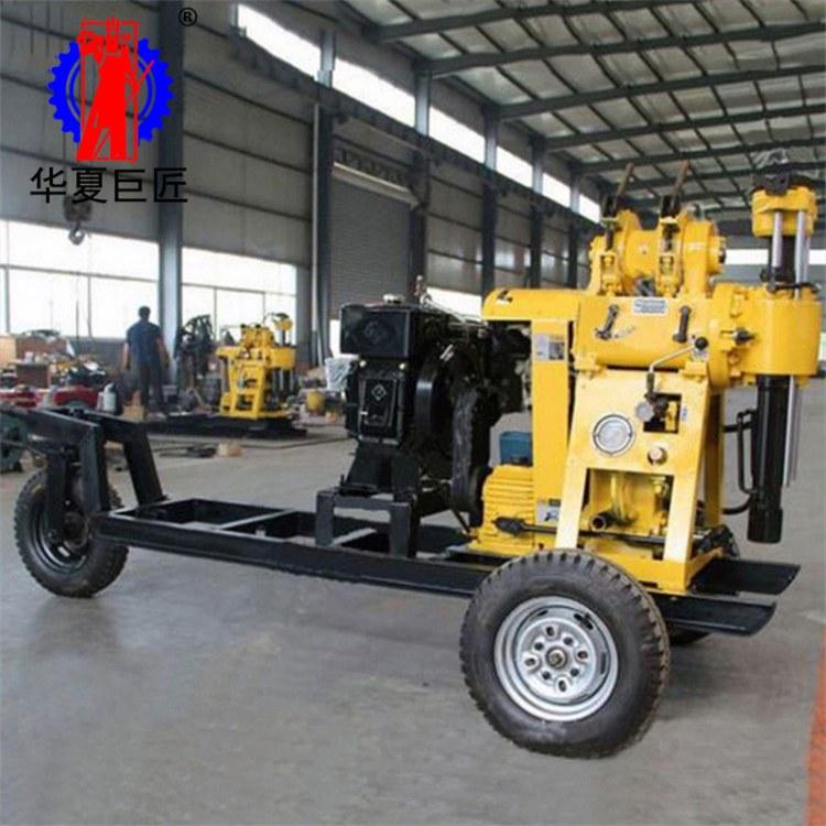 华夏巨匠制造XYX-200拖车式液压水井钻机 200米水井钻机 家用水井钻机