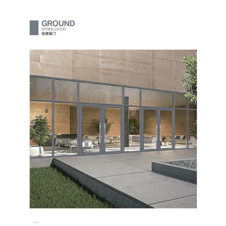 地弹簧门系统设计找顺爱装饰 高端住宅别墅酒店阳台门铝型材中空玻璃隔音平开门