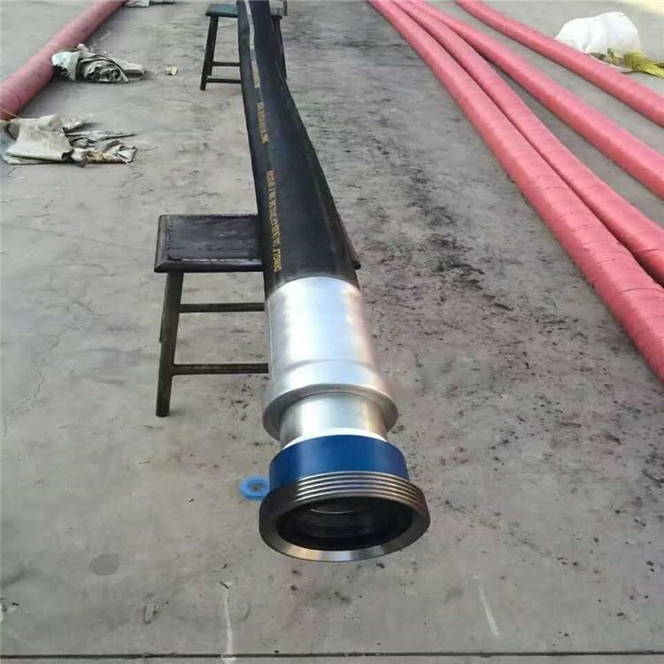 德利大口径钻探胶管 哈尔滨石油专用胶管 钢丝缠绕耐磨胶管