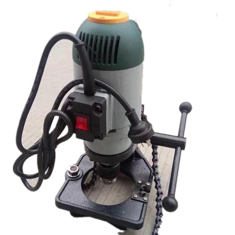 路邦机械电动链条式开孔机 镀锌管消防管道钻孔机厂家 新型管道安装工具