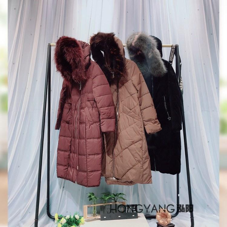 朗蔓笛2019冬季新款女装羽绒服 品牌女装专柜正品 厂家直销特价尾货清仓 直播一手货源走份