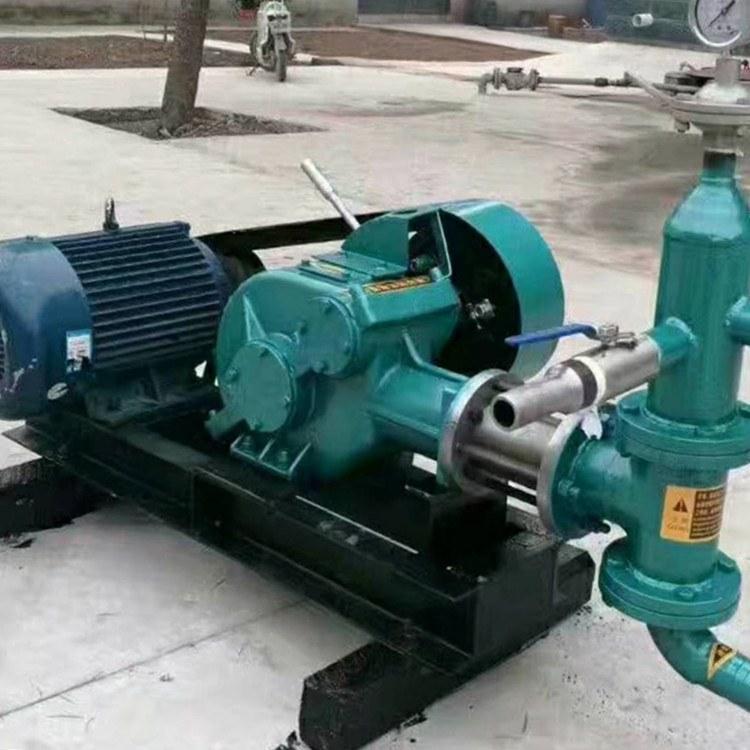 程煤注浆机 卧式双缸砂浆泵 单作用活塞式注浆机
