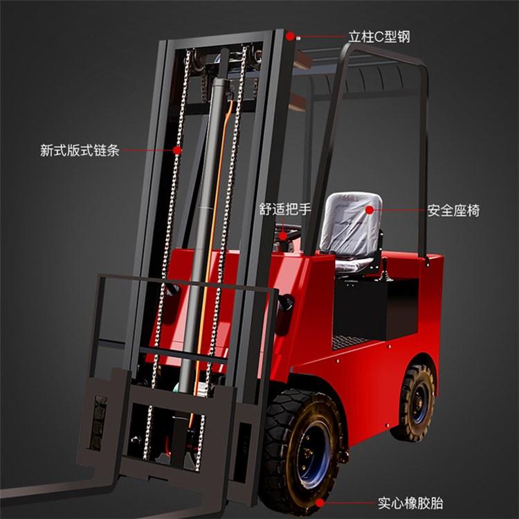 千景山 1吨 2吨液压电动叉车厂家 小型电动叉车