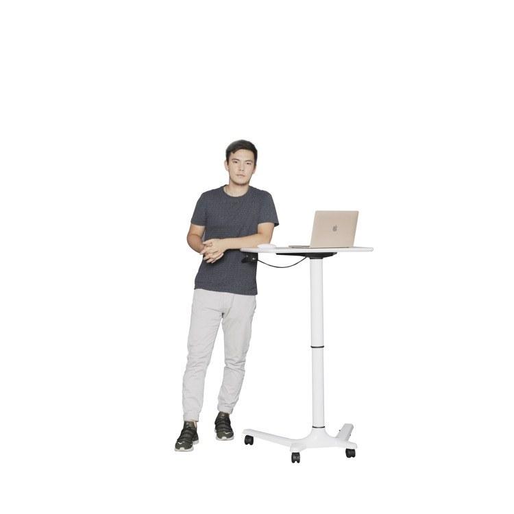 艾达智能家居 气动单立柱升降培训桌 演讲台 学习桌 休闲办公 升降办公台
