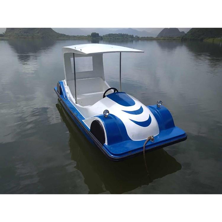 佛山佳灵厂家定制 水上跑车 水上游玩设备 玻璃钢电动船