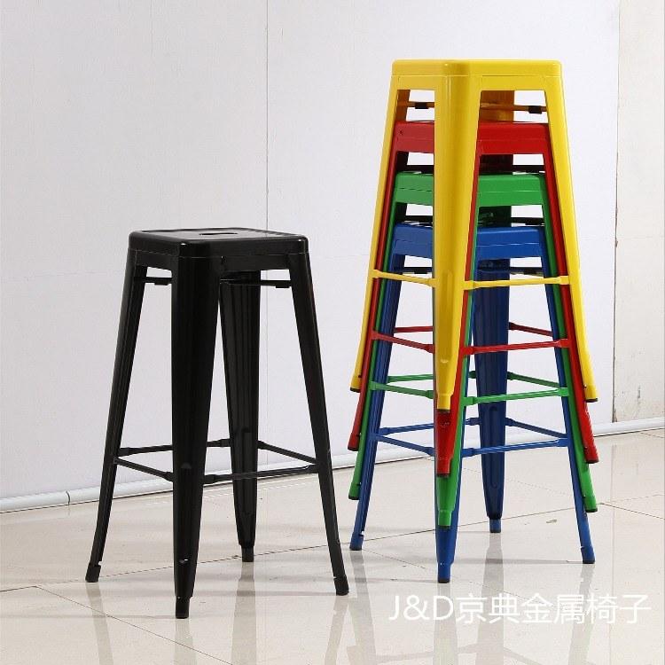 佛山金属铁艺高脚凳子吧凳生产厂家