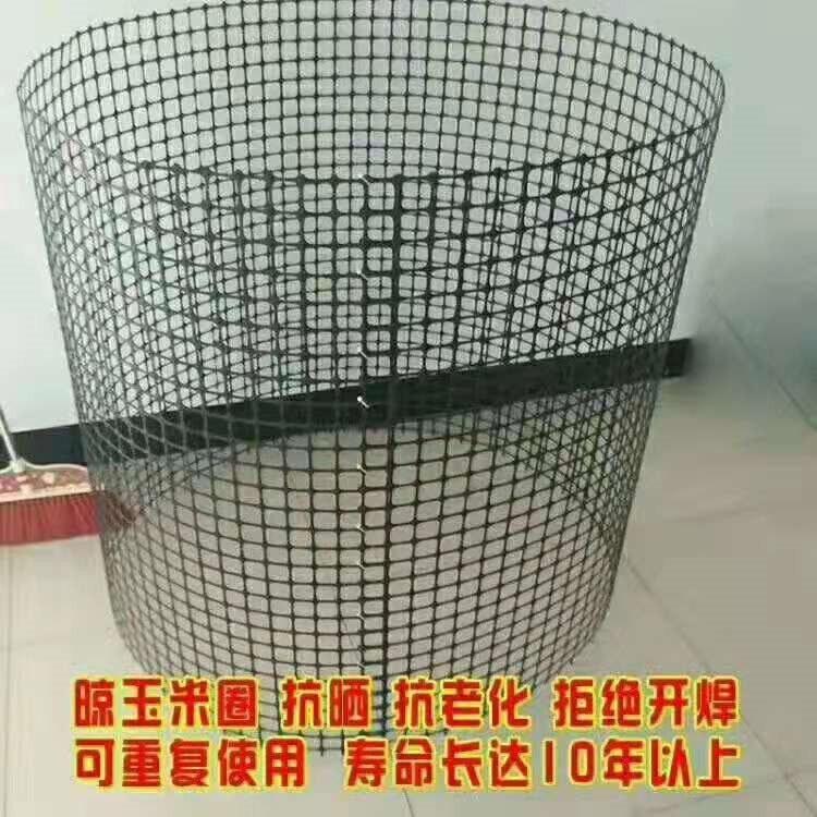 衡水圈玉米网 黑色塑胶土工格栅 钢塑料格栅网