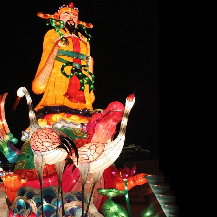 自贡江山月中秋节国庆节大型花灯彩灯厂家 定制节庆闹花灯工程项目 灯光展览