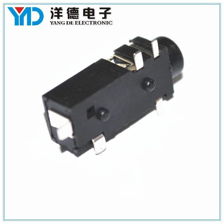 洋德电子供应贴片耳机插座 直销3.5mm插件 规格齐全