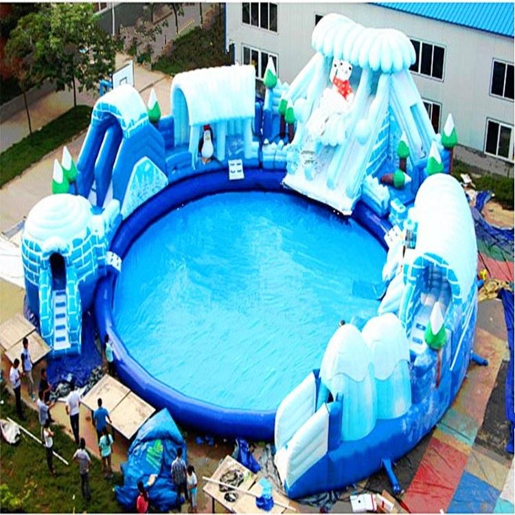 大型娱乐亲子充气水上乐园游乐设备生产厂家直销
