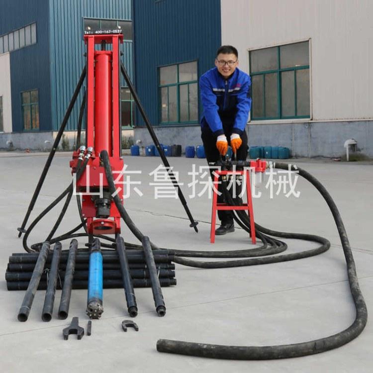 纯气动100轻型潜孔钻机型号参数价格齐全 水平护坡钻机