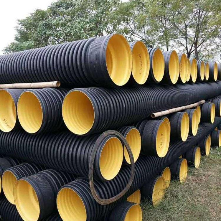 厂家直销优质聚乙烯pe波纹管 hdpe双壁波纹管 高密度聚乙烯排水排污管