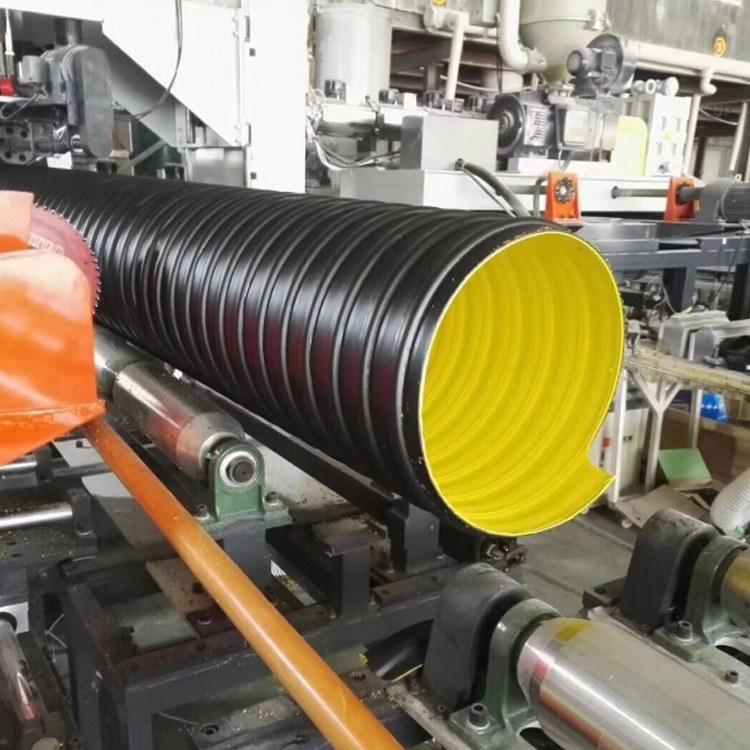 厂家直销HDPE钢带增强管波纹管 钢带增强聚乙烯螺旋波纹管