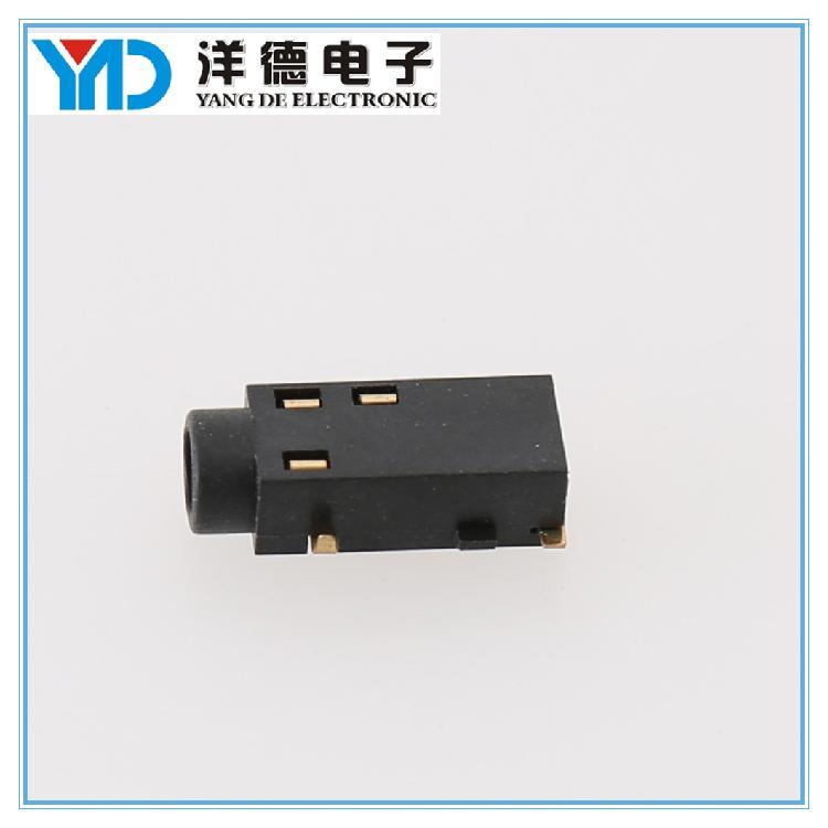 专业生产贴片耳机插座 3.5mm插件耳机插座 加工定制