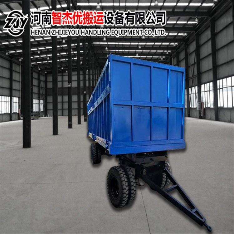 智杰优搬运 定制轨道平板拖车厂家 河南平板拖车 无动力拖车价格