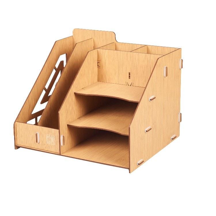 青叶山桌面资料档案整理架书桌置物架文具收纳神器办公桌文件夹收纳盒
