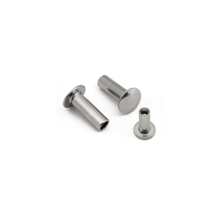 供应镀锌铝合金铆钉半 空心平头铆钉