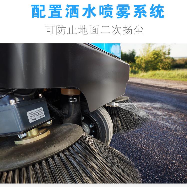 河南电瓶扫路车 负压式扫地机价格 郑州君诺
