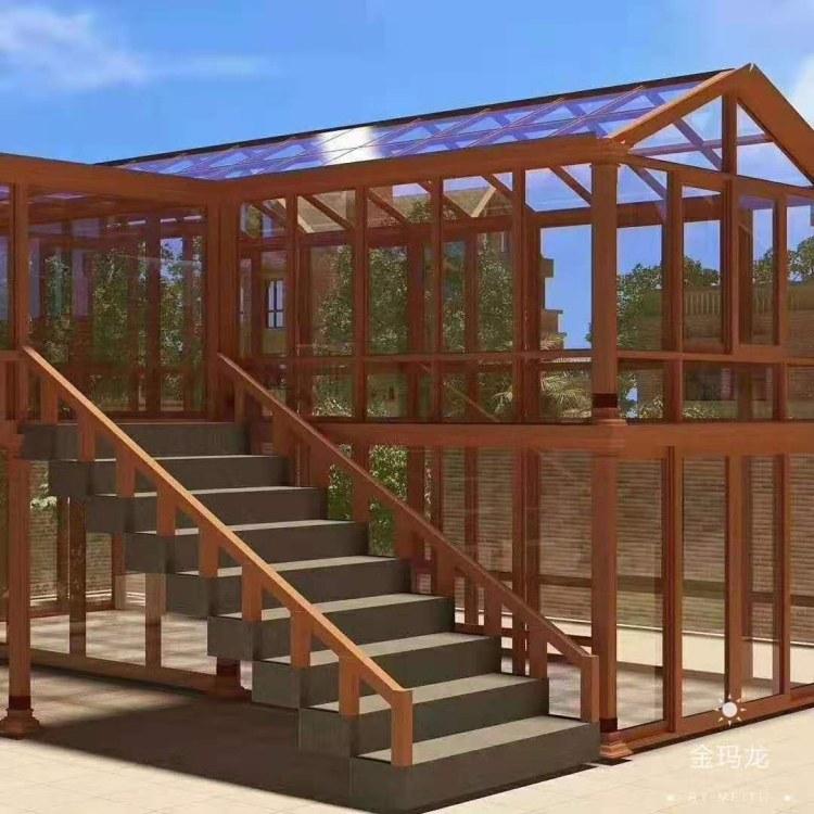 三亚阳光房厂家定制 欧式斜顶弧形顶阳光房定做