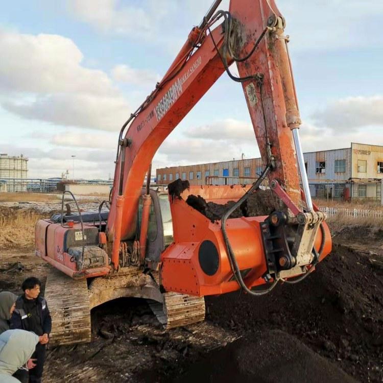 mateallu泥土粉碎机 土壤修复设备破碎筛分铲斗厂家直销