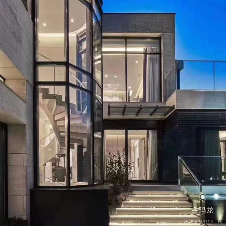 深圳定制新型阳光房 铝方形骨架休闲房钢化中空玻璃景观阳光房