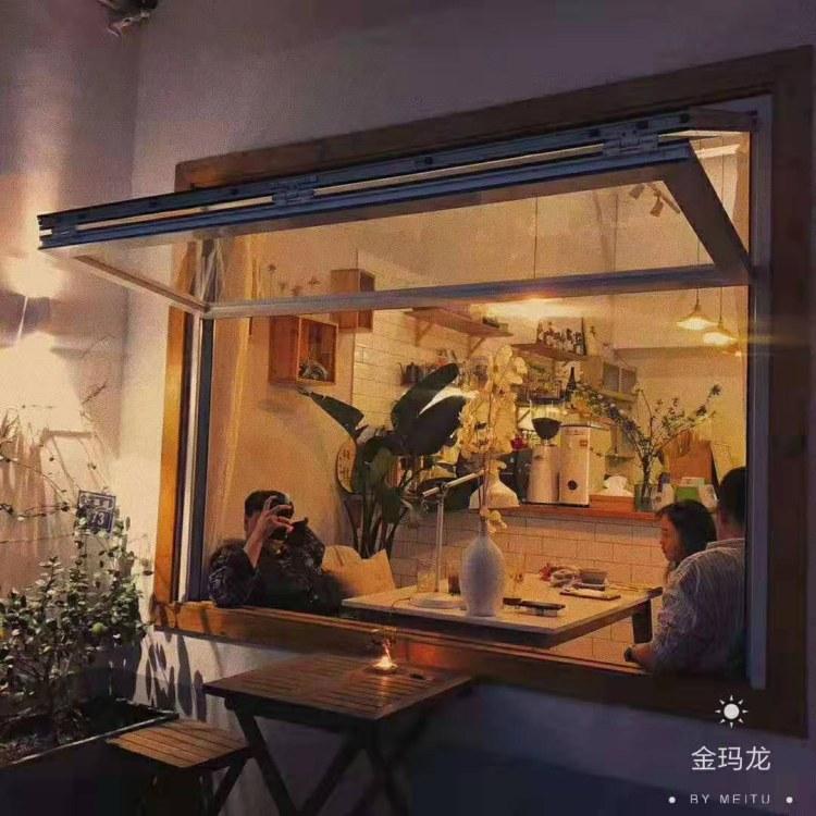 深圳上翻全开外悬上下折叠窗 对启式上下折叠窗 可自由定点停留