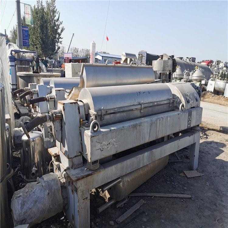 转让二手德国品牌450离心机二手三相卧式螺旋卸料沉降离心机污水泥浆处理
