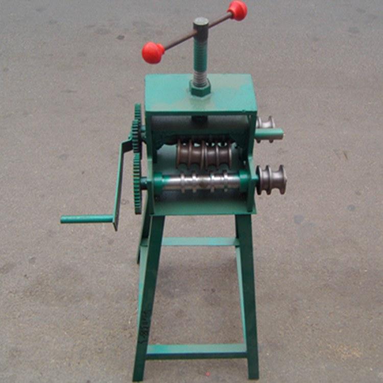 矿联机械手摇弯管机 多功滚动弯管机 手摇弯管器