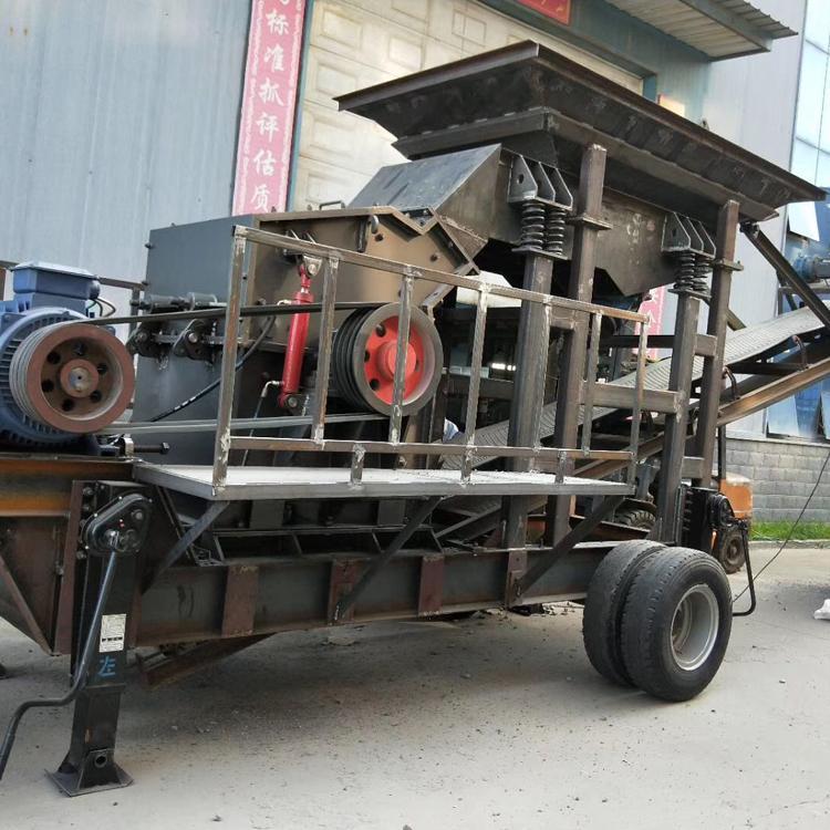 移动式制砂机 轮胎式移动制砂设备巴德机械厂家直销
