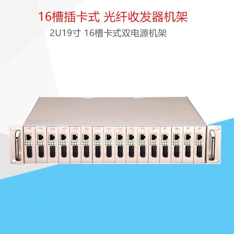 16槽插卡式光纤收发器