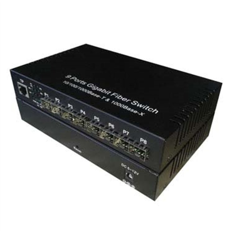 汇聚型光纤交换机全千兆8光1电SFP接口带VLAN隔离