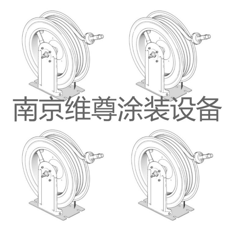 HN 软管卷盘 美国固瑞克 用于分配空气-水-防冻剂-挡风玻璃清洗液-传输流体-润滑油和润滑脂